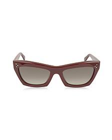 CL41802/S Burgundy Acetate Sunglasses
