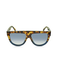 CL41026/S Shadow Occhiali in Acetato Tartaruga e Blu - Celine