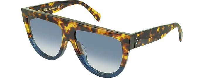 b73474716209c CL41026 S Shadow Havana Blue Acetate Sunglasses - Céline.  350.00 Actual  transaction amount