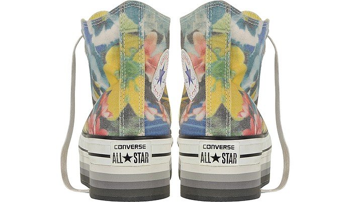 6d03f17278d6 All Star High-top Paradise Printed Canvas Platform Eva Sneaker - Converse  Limited Edition.  162.00 Actual transaction amount