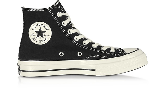 Chuck 70 High Top Black Canvas Sneakers