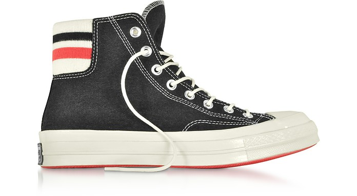 Chuck 70 Retro Stripe High Top Black Sneakers - Converse Limited Edition