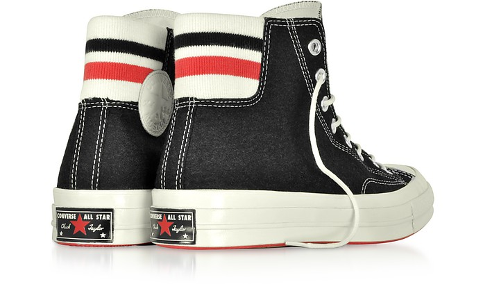 Chuck 70 Retro Stripe High Top Sneakers Nere Converse Limited ...