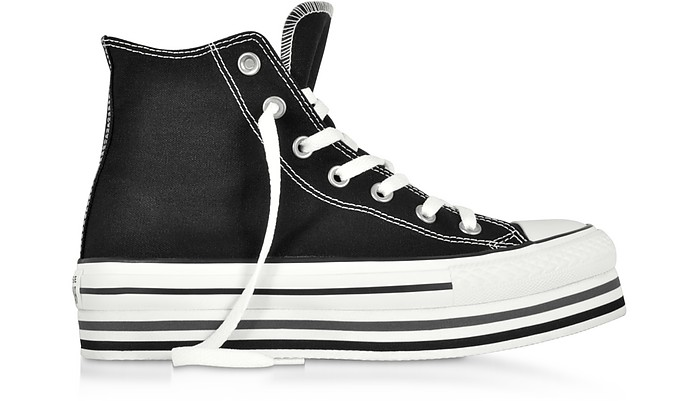 Chuck Taylor All Star Platform Layer Black Sneakers - Converse Limited Edition
