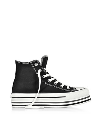d6b0e80788537 Chuck Taylor All Star Platform Layer Black Sneakers - Converse Limited  Edition