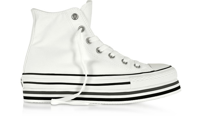 Chuck Taylor All Star Platform Layer White Sneakers - Converse Limited Edition