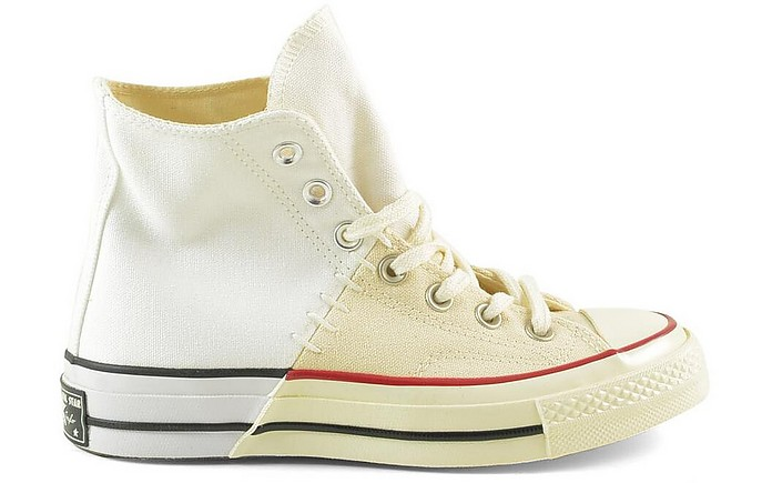 White/butter Cream High Top Women's  Sneakers - Converse Limited Edition