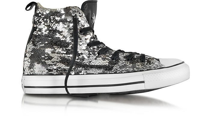 All Star Sneaker High Top in Pelle e Canvas con Paillettes - Converse Limited Edition