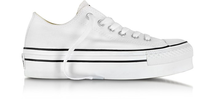 All Star Ox White Canvas Platform Sneaker - Converse Limited Edition