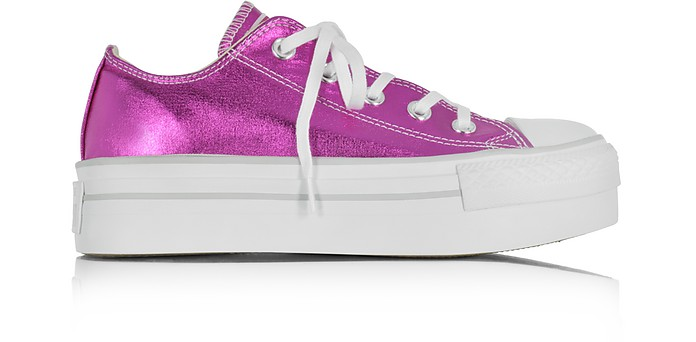 Chuck Taylor Ox Platform Metallic Magenta Canvas Sneakers - Converse Limited Edition