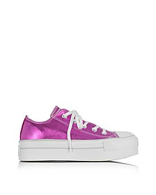 Chuck Taylor Ox Plateau Sneaker aus Canvas in metallic magenta - Converse Limited Edition