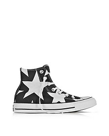 Chuck Taylor All Star High Big Stars aus Canvas in schwarz - Converse Limited Edition