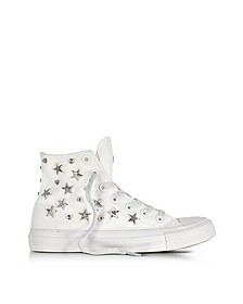 Chuck Taylor All Star Hi White Sneakers w/Stars and Studs - Converse Limited Edition