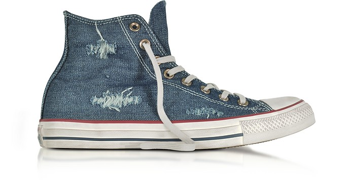 Chuck Taylor All Star Hi Denim Destroyed Unisex Sneakers - Converse Limited Edition