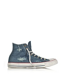 Chuck Taylor All Star Hi Denim Destroyed Unisex Sneaker - Converse Limited Edition