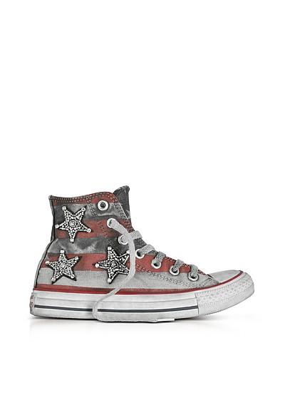 Chuck Taylor All Star 珠宝星星和杆帆布LTD运动鞋 - Converse Limited Edition  匡威