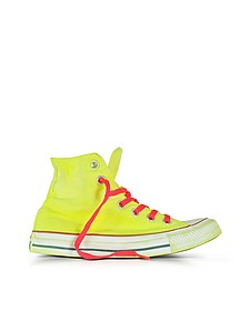 Chuck Taylor All Star Hi LTD Sneaker aus neongelbem Canvas - Converse Limited Edition