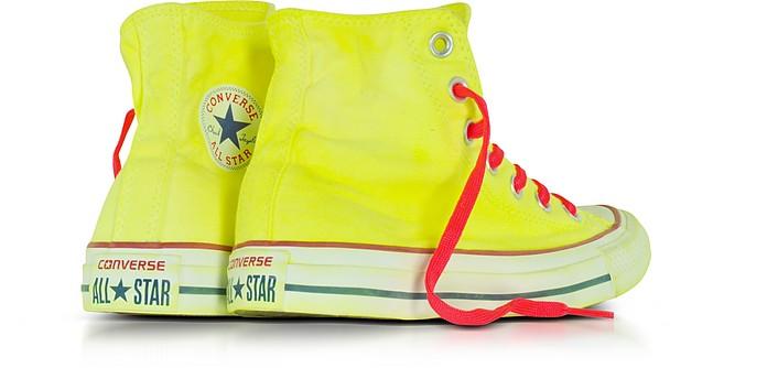 Chuck Taylor All Star Hi Sneakers in Canvas Giallo Fluo LTD Converse Limited Edition 3.5 (36 EU) PkgZdLmzX