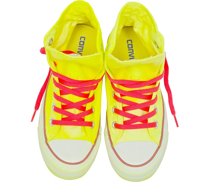 0b497250d790b5 Chuck Taylor All Star Hi Neon Yellow Canvas LTD Sneakers - Converse Limited  Edition. AU 91.20 AU 228.00 Actual transaction amount