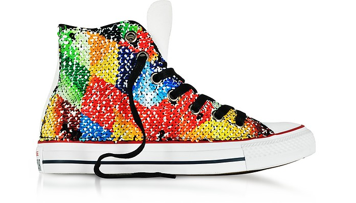 Chuck Taylor All Star High Top Sequins and Canvas Women's Sneakers - Converse Limited Edition