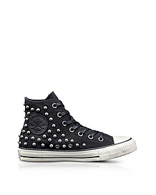 Chuck Taylor All Star High Black Studded Canvas Sneakers - Converse Limited Edition