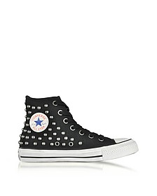 Chuck Taylor All Star High 黑色铆钉帆布运动鞋 - Converse Limited Edition  匡威