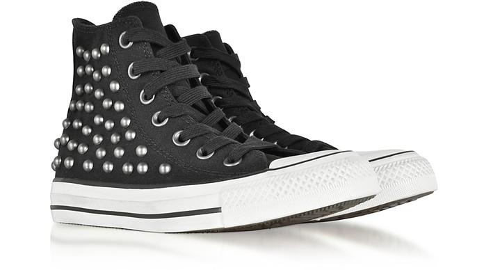 litro Ir a caminar política  Converse Limited Edition Chuck Taylor All Star High Black Studded Canvas  Sneakers 5.5 WOMENS US | 3.5 UK | 36 EU at FORZIERI
