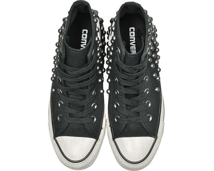 d3a0b5c7fdb Chuck Taylor All Star High Black Studded Canvas Sneakers - Converse Limited  Edition. Sold Out