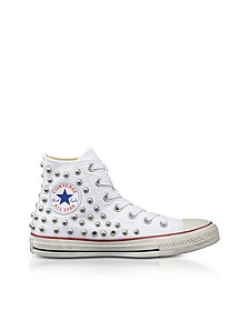 Chuck Taylor All Star High 白色铆钉帆布运动鞋 - Converse Limited Edition  匡威