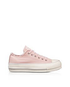 Chuck Taylor All Star High Blossom Pink Textured Canvas Flatform Sneakers - Converse Limited Edition