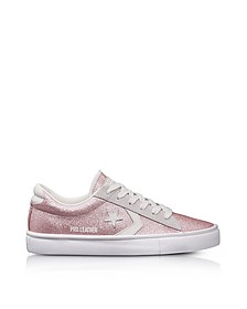 Pro Leather Vulc Blossom Pink Glitter and Suede Sneakers - Converse Limited Edition