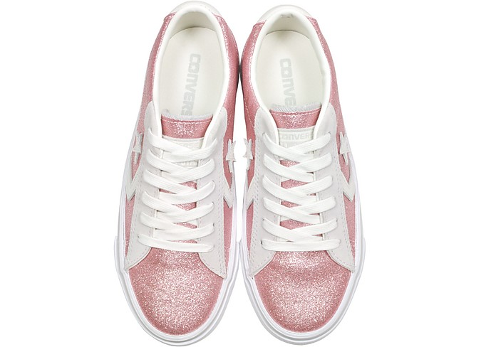 Pro Leather Vulc Sneakers in Suede Rosa con Glitter Converse Limited Edition 7.5 (38 EU) dWAqNNB