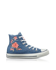 Chuck Taylor All Star High Denim Frayed Flower Women's Sneakers - Converse Limited Edition  匡威
