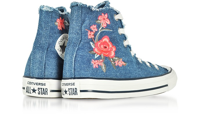 1550d9bb49c46b ... Denim Frayed Flower Women s Sneakers - Converse Limited Edition.  €100