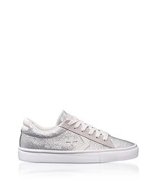 Pro Leather Vulc Silver Glitter and Suede Sneakers - Converse Limited Edition