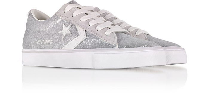 660f876a79d69a Pro Leather Vulc Silver Glitter and Suede Sneakers - Converse Limited  Edition.  87.50  125.00 Actual transaction amount