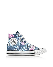 Chuck Taylor All Star High Vintage Denim Flowers Sneakers - Converse Limited Edition