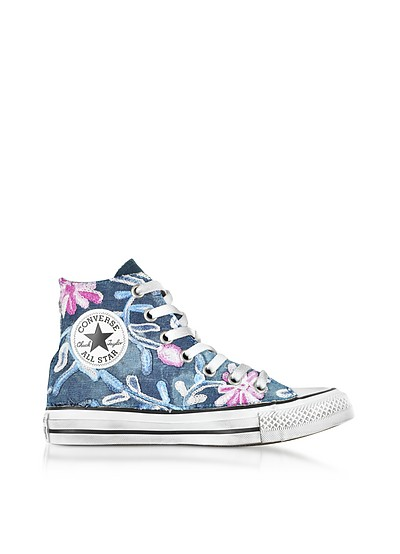 Sneakers Chuck Taylor All Star Altos Vintage Denim con Fores  - Converse Limited Edition