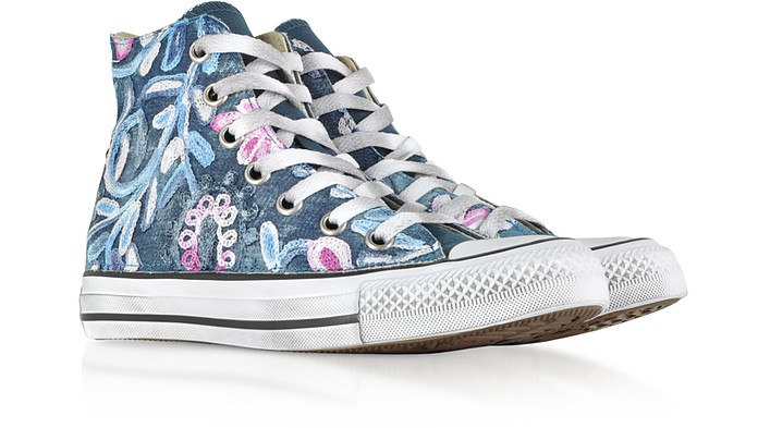 ae7131b8ad301d Chuck Taylor All Star High Vintage Denim Flowers Sneakers - Converse  Limited Edition. Sold Out