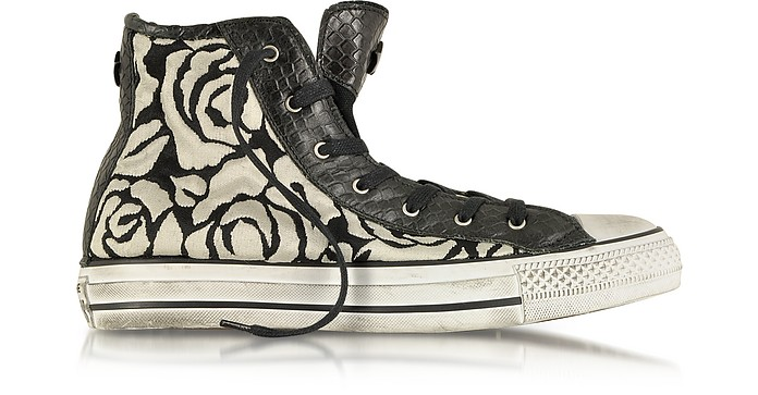 All Star HI White Roses Canvas and Textile LTD Sneaker - Converse Limited Edition