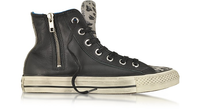All Star HI Zipped Animal Print Leather & Suede Sneaker - Converse Limited Edition
