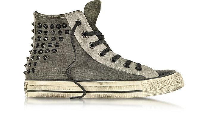 All Star HI Textile and Suede Studded Sneaker - Converse Limited Edition