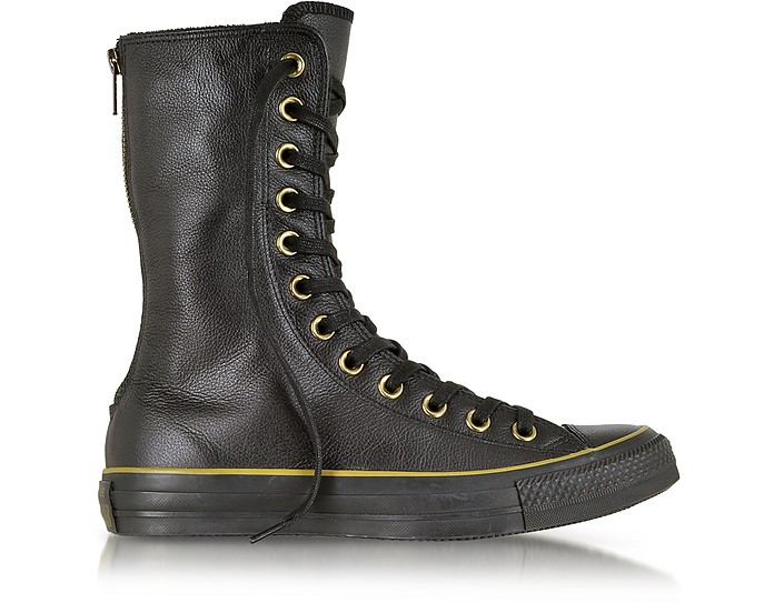 All Star X HI SneakerStivale in Pelle Nera Converse Limited