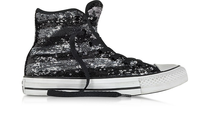 All Star Hi Sequins Black and Silver Sneaker - Converse Limited Edition