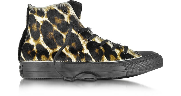 All Star Jungle Fur Hi Canvas and Leather LTD Sneaker - Converse Limited Edition