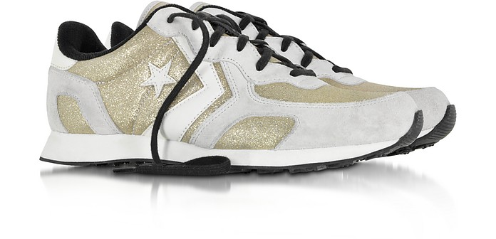 580764c7b91672 Auckland Racer Ox Gold Glam Fabric and Suede Sneaker w Glitter - Converse  Limited Edition.  100.80  168.00 Actual transaction amount