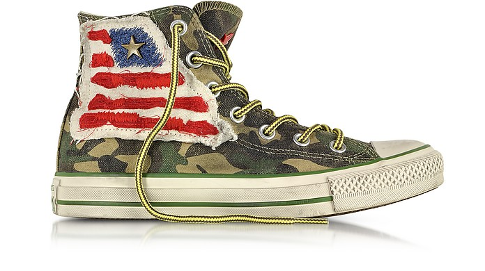 All Star Hi Canvas LTD Camo Graduate Flag Sneaker - Converse Limited Edition