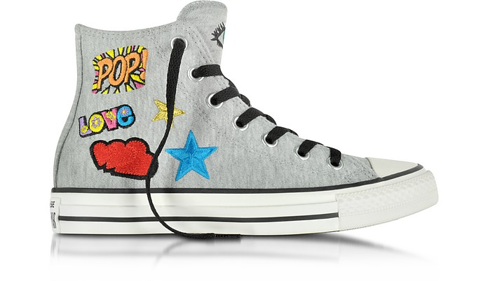 All Star High Melange Gray Fleece Damen-Sneaker - Converse Limited Edition