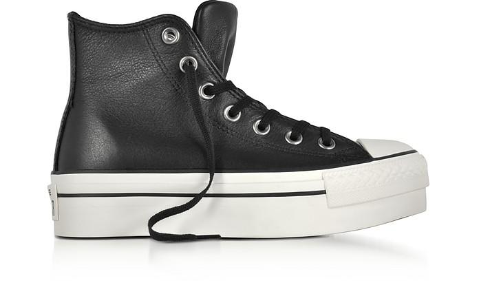 Chuck Taylor All Star - Sneakers Femme à Plateforme en Cuir Noir