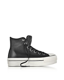 Chuck Taylor All Star High Black Leather Flatform Sneakers - Converse Limited Edition